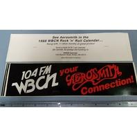 WBCN Boston Vintage 1988 Aerosmith Promotional Sticker New Old Stock Flawless
