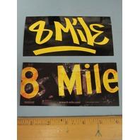 Eminem 2002 8 Mile Soundtrack 2 Promotional Sticker Set New Old Stock Flawless