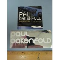 Paul Oakenfold 2001/2002 2 Promotional Sticker Set New Old Stock Flawless