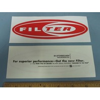 Filter 1999 Title Of Record Promotional Sticker New Old Stock Flawless Red