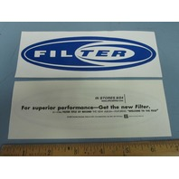 Filter 1999 Title Of Record Promotional Sticker New Old Stock Flawless Blue