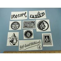 VOLCOM surf snowboard skateboard BIG 9 sticker set NEW old stock MINT condition