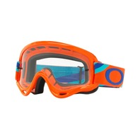 Oakley XS O-Frame MX Heritage Racer Goggle Orange/Clear OO7030-11 New in Box