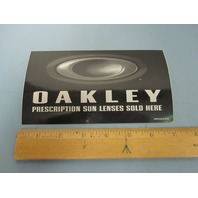 OAKLEY 2006 Authorized Dealer 2 sided Window Door Vinyl sticker New Old Stock