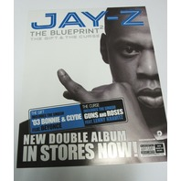 JAY-Z 2002 Blueprint 2 Rare Static Cling Sticker Flawless New Old Stock