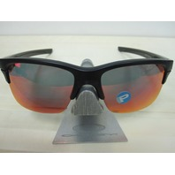OAKLEY mens THINLINK Sunglass Matte Black/Torch Polarized OO9316-07 New In Baggy