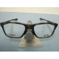 OAKLEY mens RX eyeglass frame Trim Plane Green Tort OX8107-0553 NEW In Case/Box