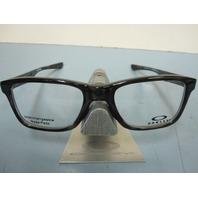OAKLEY mens RX eyeglass frame Trim Plane Grey Tort OX8107-0451 NEW In Case/Box