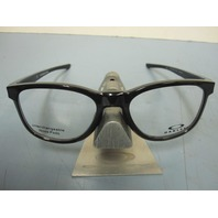 OAKLEY mens RX eyeglass frame Cloverleaf Trubridge Black OX8102-0252 New In Box