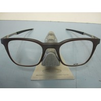 OAKLEY mens RX eyeglass frame Steel Line R Dark Amber OX8103-0449 New In Box