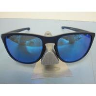 OAKLEY mens SLIVER R sunglass Matte Blue/Sapphire Iridium OO9342-09 NEW in baggy