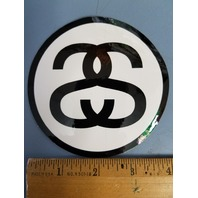 STUSSY surf skateboard snowboard Classic Chanel Double S Sticker New Old Stock