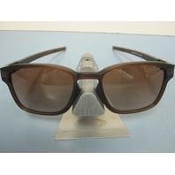 OAKLEY mens LATCH SQ sunglass Matte Brown/Brown Gradient OO9353-09 New In Baggy