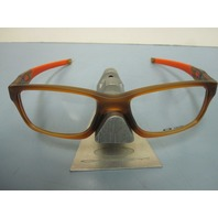 OAKLEY mens RX frame CROSSLINK satin rootbeer/orange OX8030-0355 New In Box
