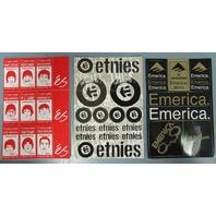 ES Etnies Emerica skateboard 2002 Vintage 3 diecut sticker set New Old Stock