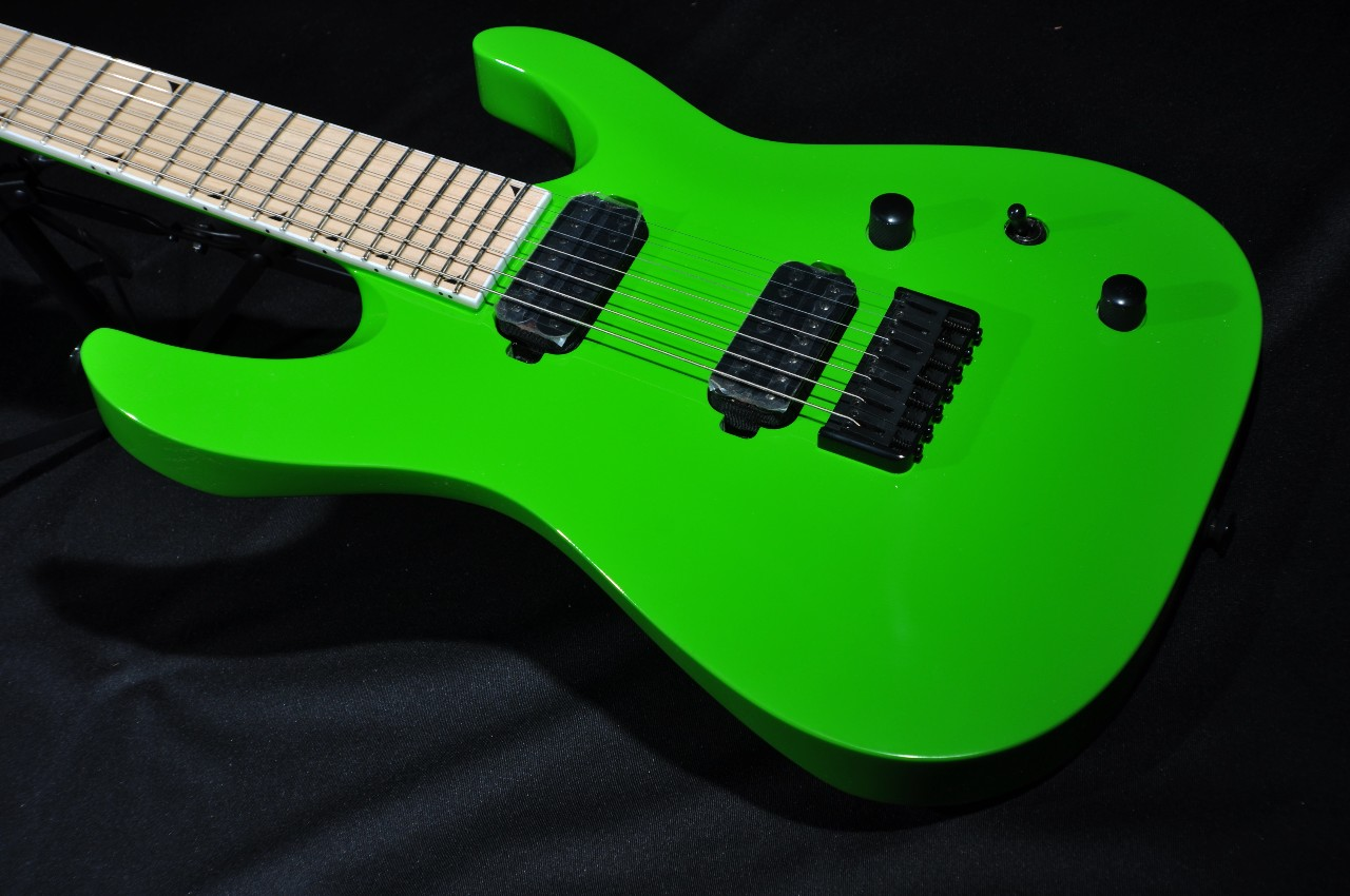Jackson Slathx M3 7 Slime Green Guitar W Gig Bag Icj1500207 With Emg Pickup Wiring