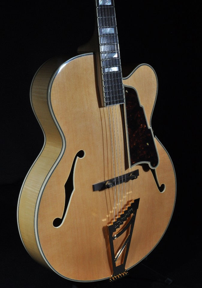 d 39 angelico daexl 1a natural hollow body acoustic electric guitar w hardshell streetsoundsnyc. Black Bedroom Furniture Sets. Home Design Ideas