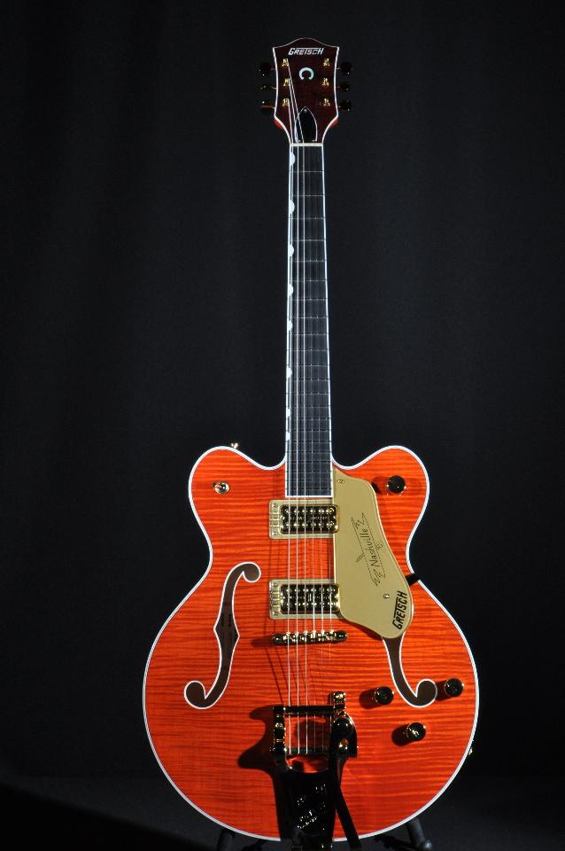 gretsch g6620tfm players edition center block guitar orange flame streetsoundsnyc. Black Bedroom Furniture Sets. Home Design Ideas