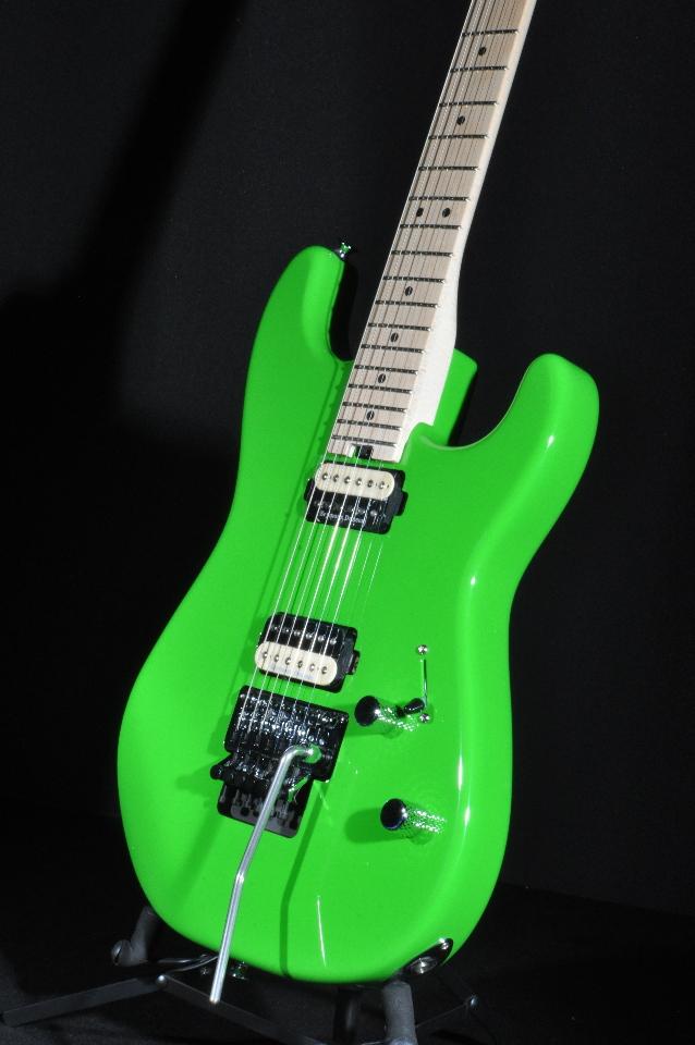charvel sd1 pro mod san dimas sd1 2h floyd rose slime green guitar streetsoundsnyc. Black Bedroom Furniture Sets. Home Design Ideas