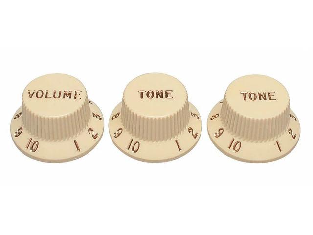Fender Aged White Stratocaster Knobs (0991369000)