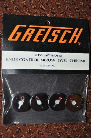 GRETSCH  KNOB CONTROL ARROW JEWEL CHROME  4-PACK