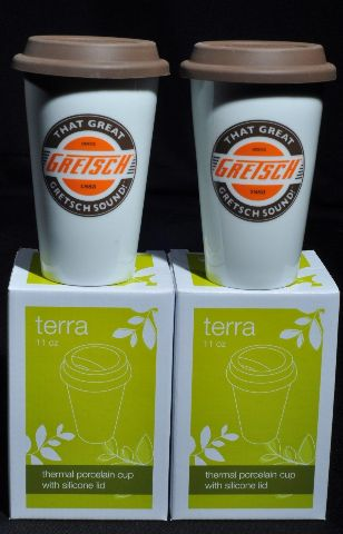 GRETSCH PORCELAIN CUP WITH LID (2-PACK) 11OZ.
