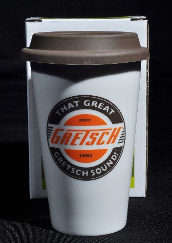 GRETSCH PORCELAIN CUP WITH LID 11OZ.