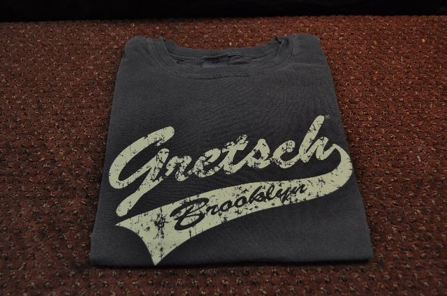 Gretsch Brooklyn Tail Tee Shirt Faded Black Large