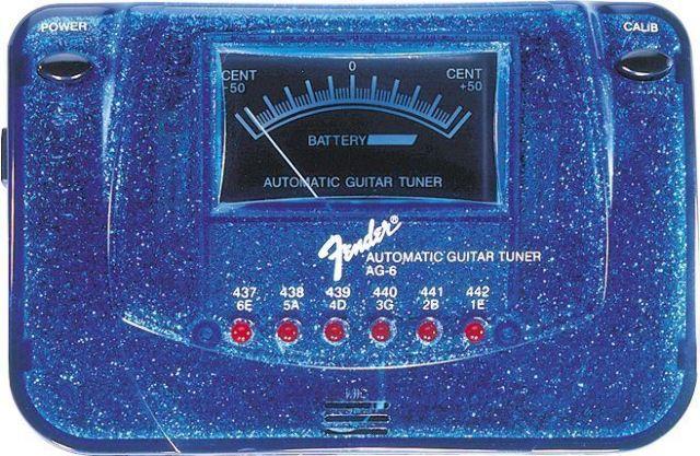 FENDER AG6 GUITAR TUNER BLUE SPARKLE  BRAND NEW  FREE SHIPPING
