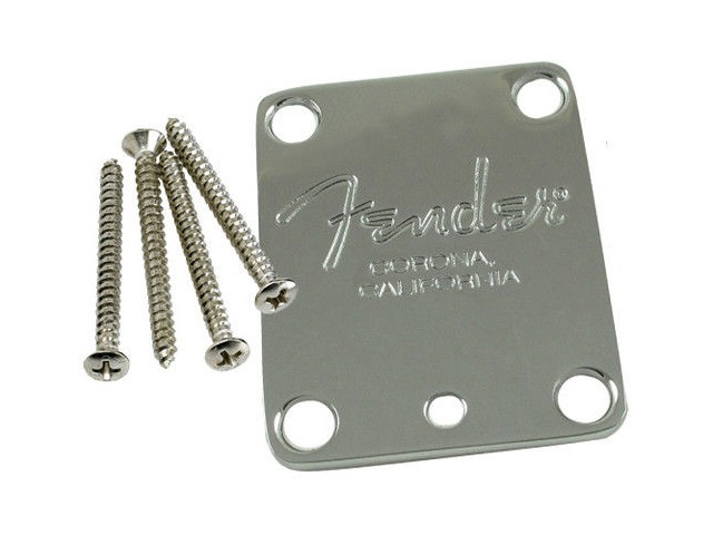 Fender Chrome Neck Plate  American Standard Guitar PN 0991445100