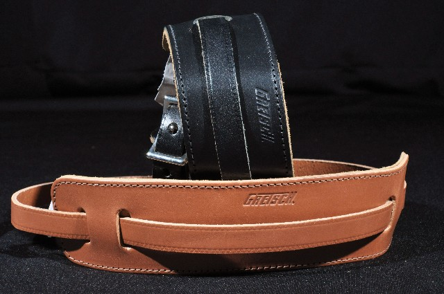 Gretsch  Guitar Straps 2-Skinny  Leather Black/Natural  New