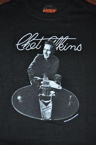 Chet Atkins Tee Shirt Black Medium