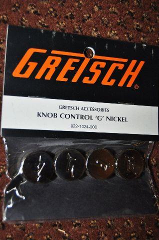 GRETSCH  KNOB CONTROL ''G'' NICKEL  4-PACK