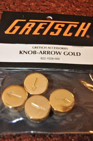 Genuine Gretsch  Knob Arrow Gold  4-PACK 922-1028-000