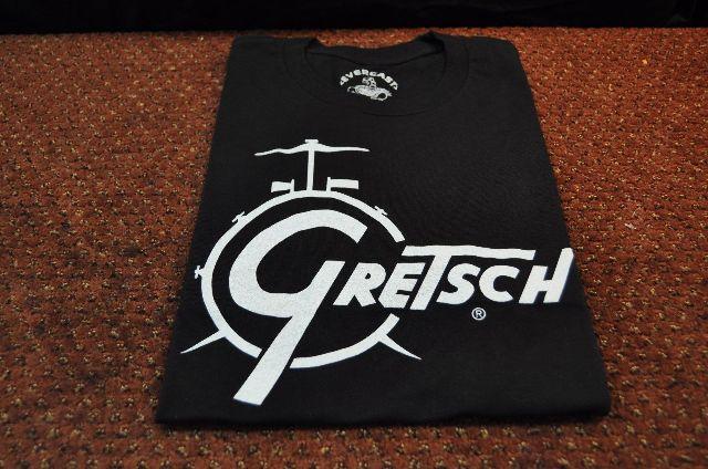 GRETSCH CLASSIC DRUM LOGO TEE BLACK XX-LARGE
