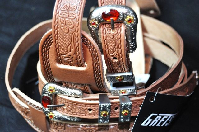 Gretsch Tooled Leather Guitar Strap Russett  2-Pack