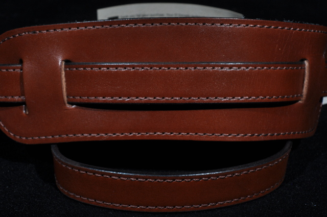 El Dorado Vintage Plain Brown Guitar Strap Small 40''- 46''