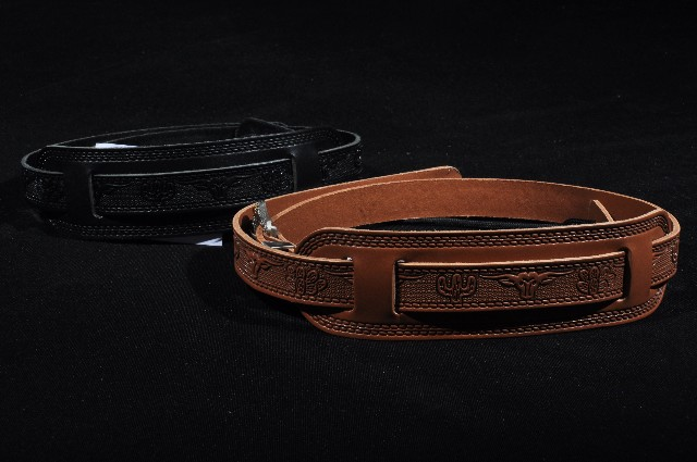 Gretsch Tooled Leather Guitar Strap Russett Black New (2 Pack)
