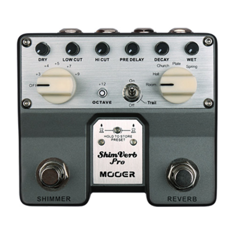 MOOER SHIMVERB PRO TWIN DIGITAL DELAY PEDAL TVR1-U