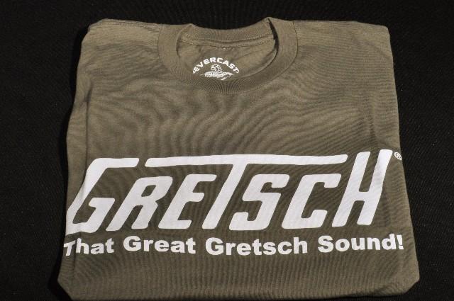 "GRETSCH ""THAT GREAT GRETSCH SOUND"" TEE SHIRT OLIVE SMALL"