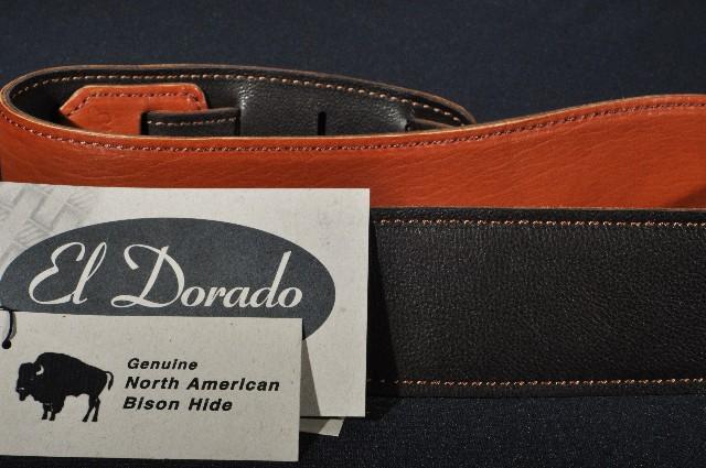El Dorado Durango Suave Genuine North American Bison Guitar Strap 40''-53''