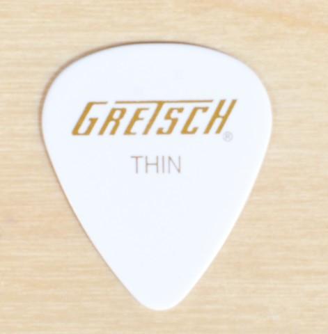 GRETSCH 351 WHITE THIN GUITAR PICKS 144 PICKS (1-GROSS)