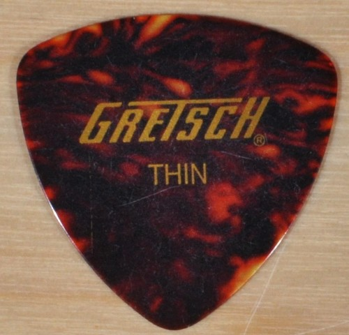 GRETSCH 346 CELLULOID TORTOISE SHELL THIN GUITAR PICKS 72 PICKS (1/2 GROSS)