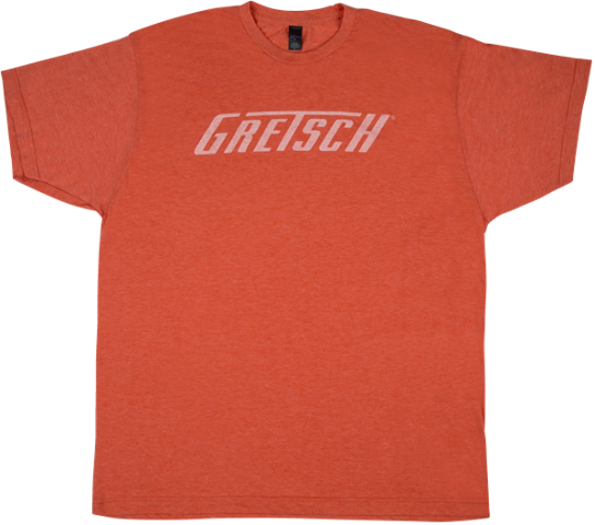 Gretsch Logo Tee Shirt Heathered Orange XL