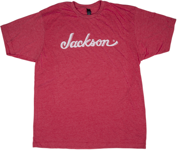 Jackson Logo Tee Shirt Heathered Red Medium