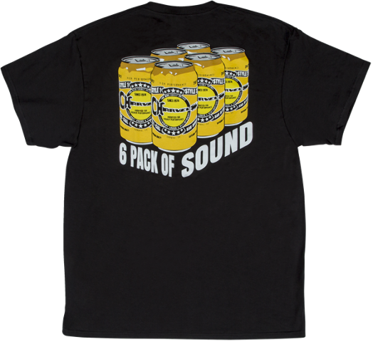 Charvel 6Pack Of Sound Logo Tee Shirt Black Large