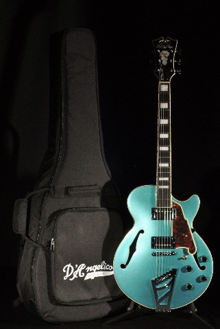 D'angelico Premier SS Ocean Turquoise Semi Hollow Body Guitar Case Included