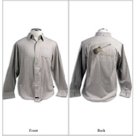 "FENDER CUSTOM SHOP ""TOOLS OF ROCK"" LS SHIRT GREY SMALL"