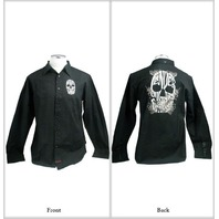"FENDER CUSTOM SHOP ""BIG SKULL"" LS SHIRT BLACK MEDIUM"