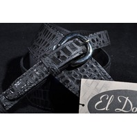 El Dorado Gator Model Guitar Strap Black  X-LG 50''-56''